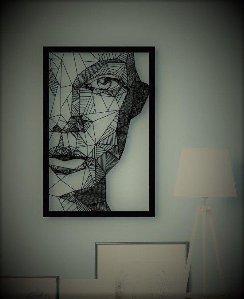 Woman Face Metal Wall Art Metal Wall Sculpture Abstract ...
