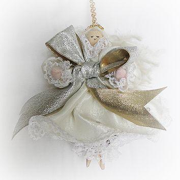 Hair Scrunchies Christmas Baubles all over Handmade