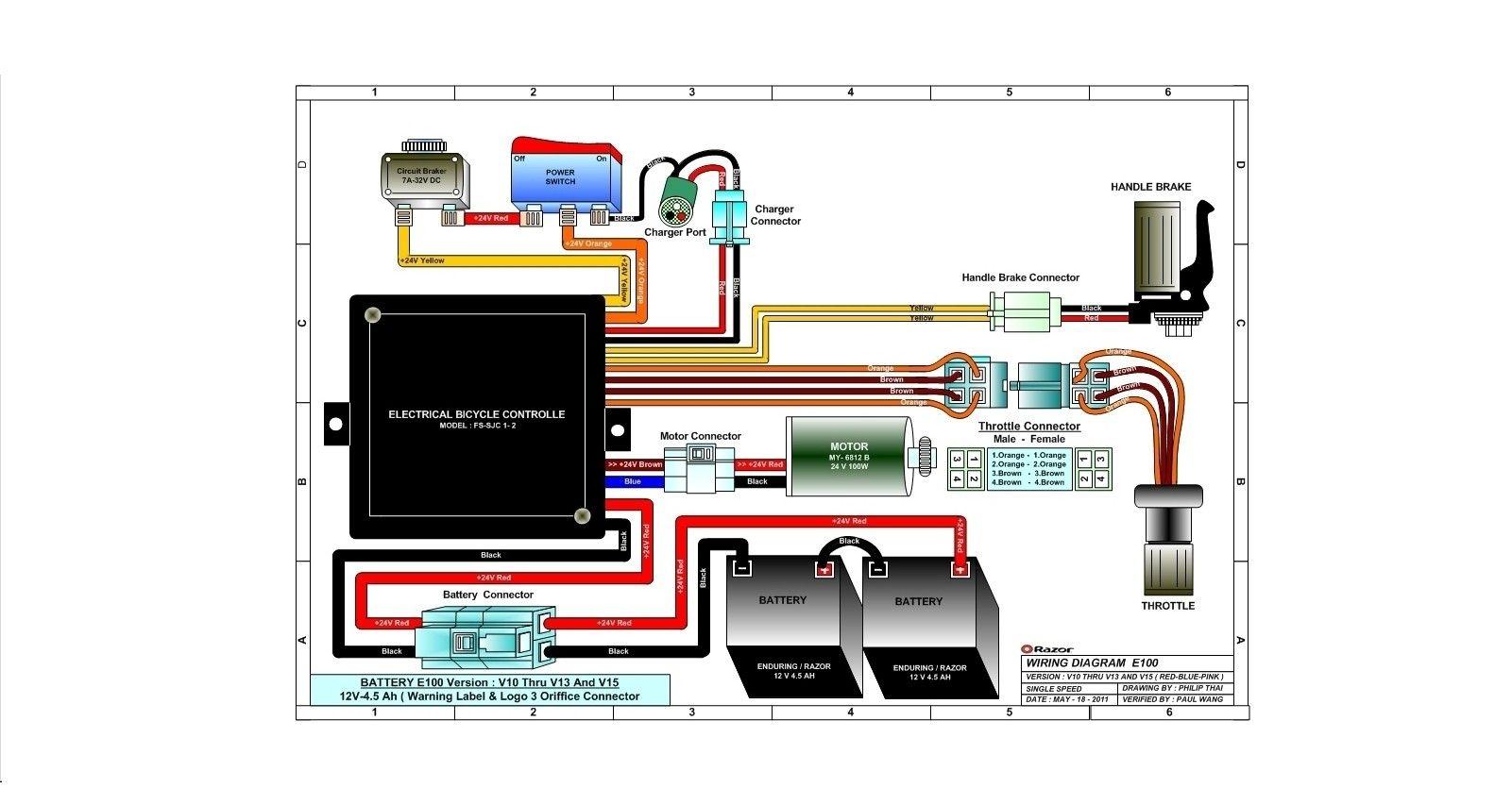 E100 Razor Wiring In 2020 Wire Razor Diagram