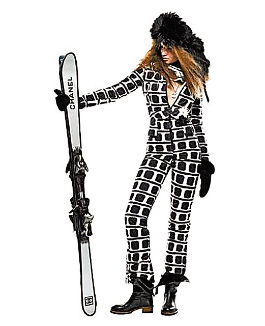 00c985d131 need this for Tahoe!!!! Chanel skis and ski suit. tres chic ...
