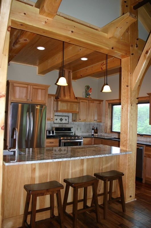 The Memphis Delight Kitchen http://www.timberbuilt.com/building_plan/timber_frame_homes_the_memphis_delight_timberbuilt/index.html
