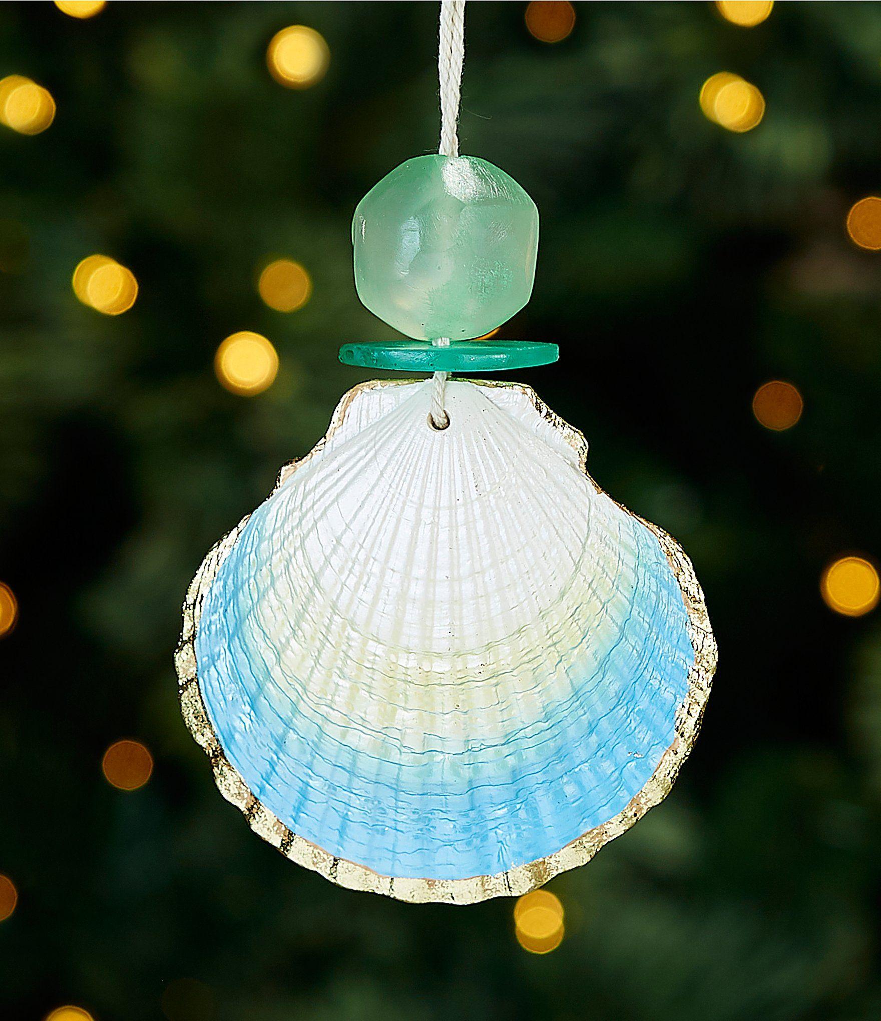 Trimsetter Sea Shells Jingle Bells Clam Shell Ornament Dillard S Shell Ornaments Beach Christmas Decorations Ornaments
