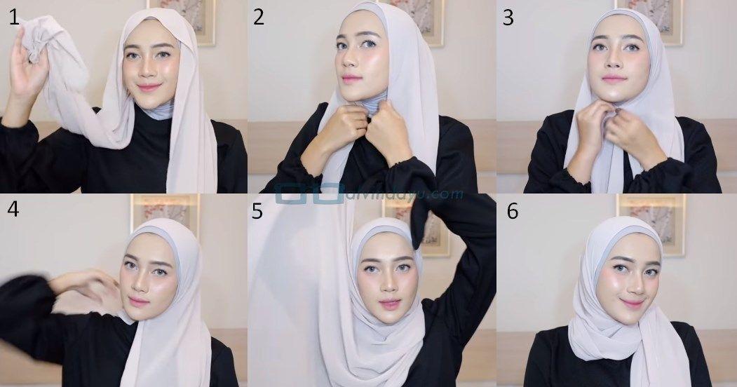 5 Tutorial Hijab Pashmina Simple Modern Mudah Dan Kekinian Ala