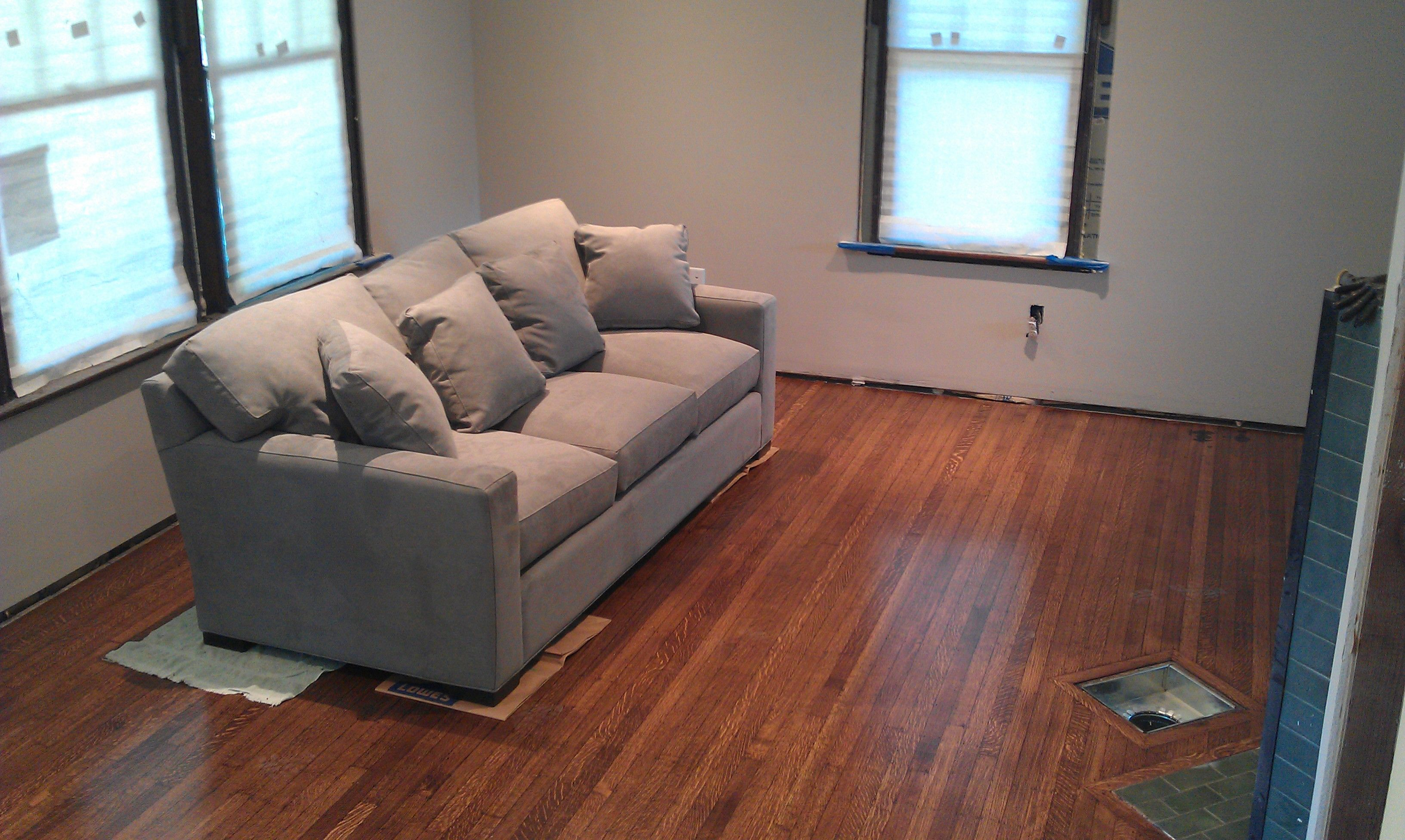 Menards Living Room Furniture Crate And Barrel Couch Axis In Charcoal Floors Refinished With