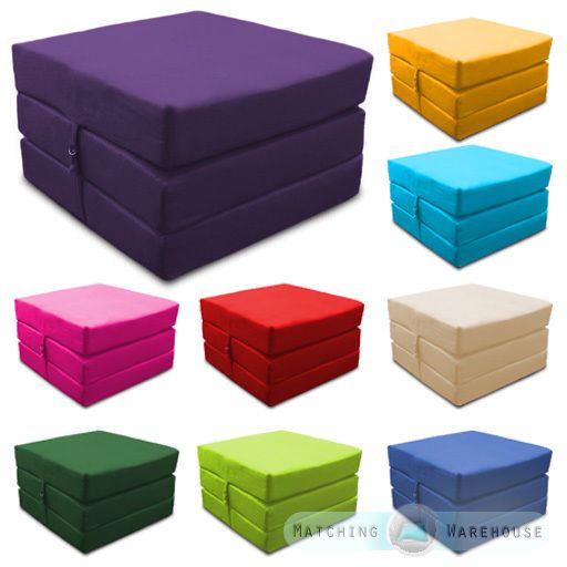 Peachy Details About Waterproof Fold Out Cube Guest Z Bed Chair Andrewgaddart Wooden Chair Designs For Living Room Andrewgaddartcom