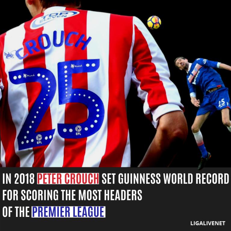 Peter Crouch Record Peter Crouch Premier League Goals Premier League