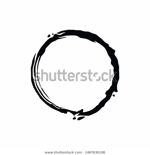 Pin By Hamdy Modesty On Https Www Shutterstock Com G Hamdesain Brush Stroke Vector Brush Strokes Circle