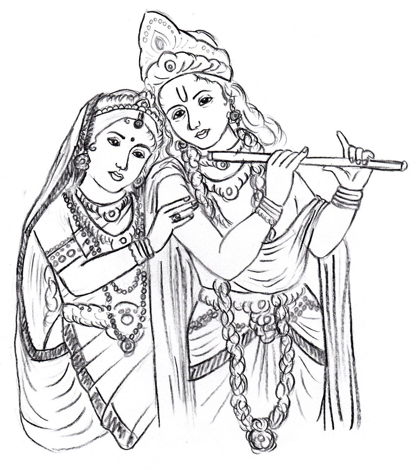 radha krishna | divine art | Pinterest