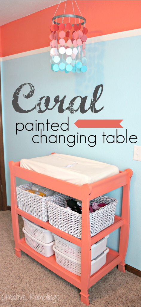 Painted Changing Table Food Recipes Baby Nursery Decor