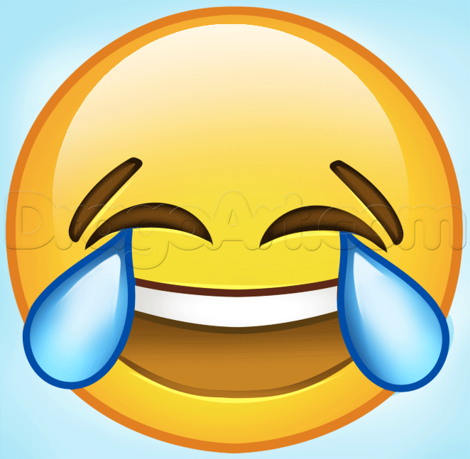 How To Draw Laughing Emoji Step By Step Symbols Pop Culture Free Online Drawing Tutorial Added By Daw Laughing Emoji Funny Pictures To Draw Emoji Drawings