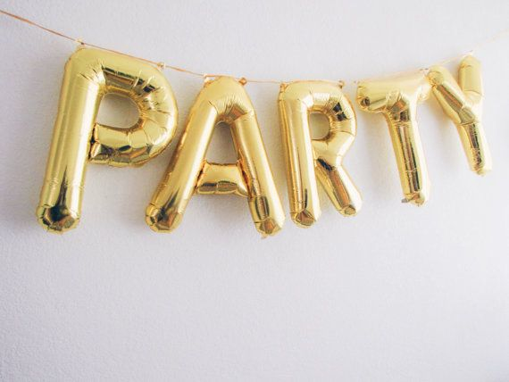 party letter balloons gold foil mylar letter balloons balloon banner kit only