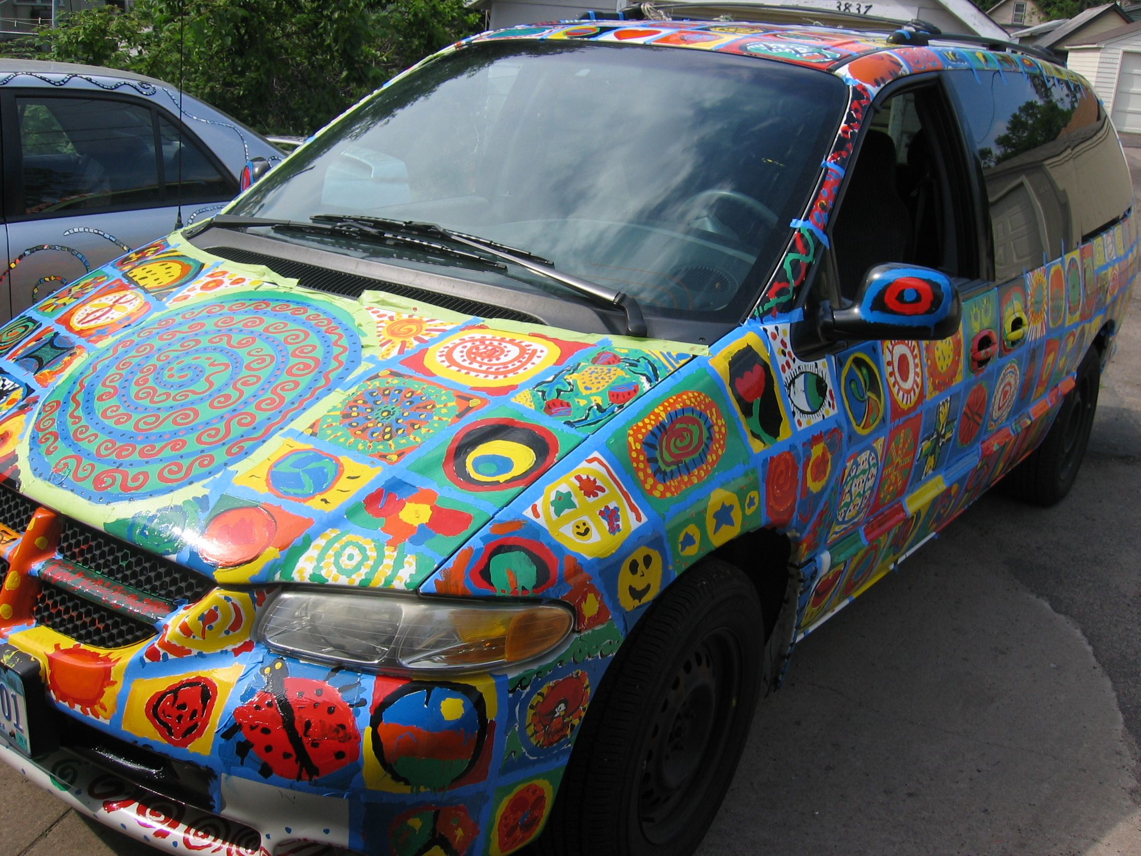 Mandala Paint Job Find That Minivan In A Parking Lot