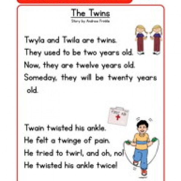 phonics stories comprehension tw – First Grade Reading Comprehension Worksheets Free