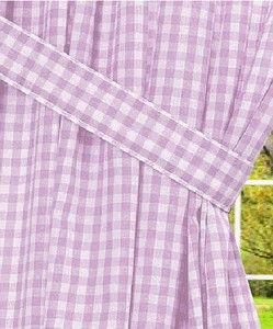 Light Purple Gingham Check Window Curtains Pink Gingham Gingham Check Long Curtains