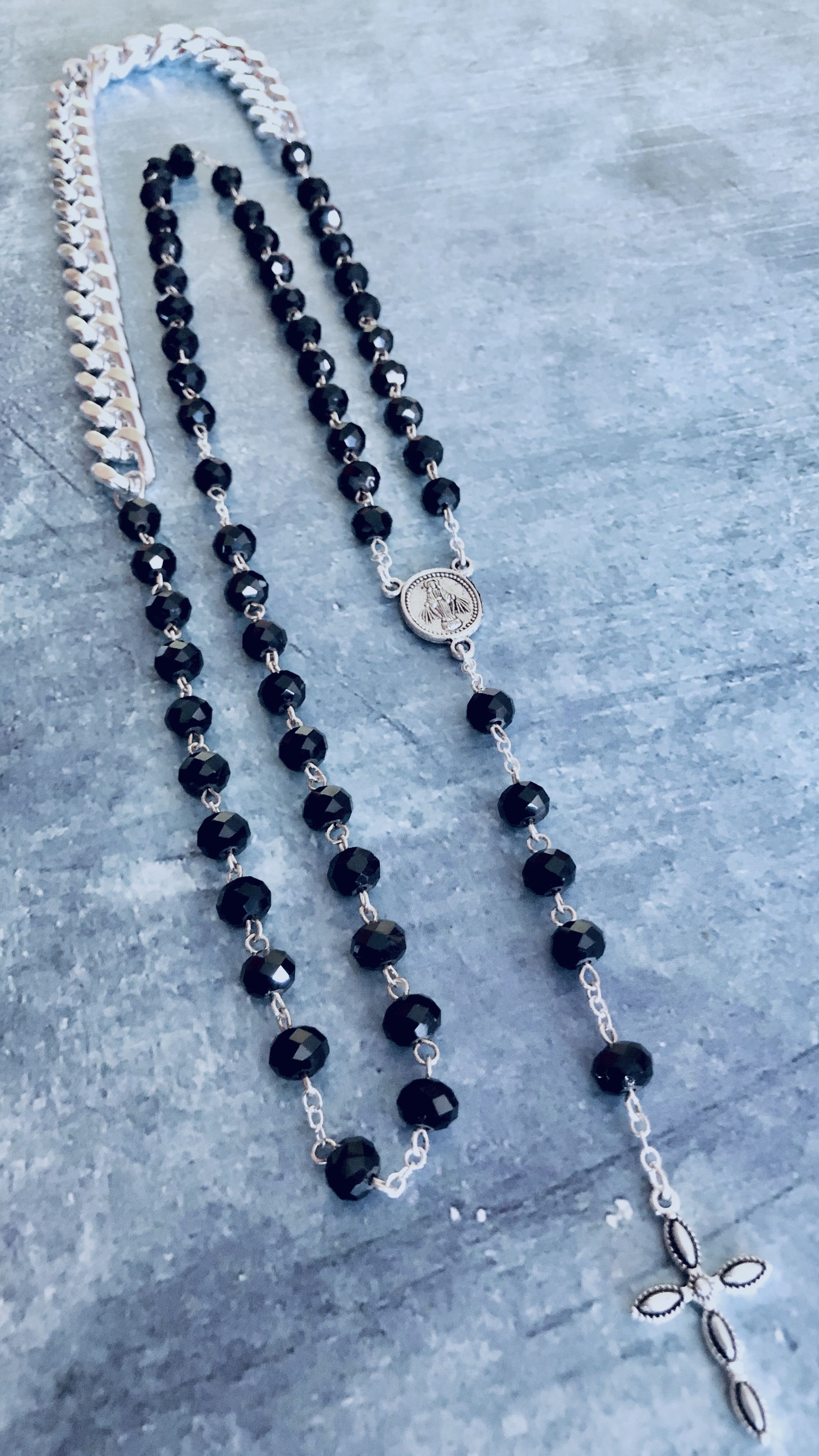 15Inch Necklace beaded ball 4 chains In One Pack