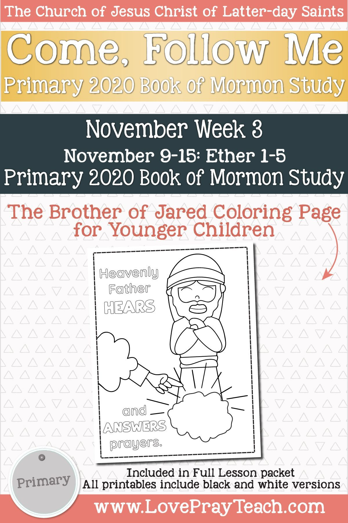 Come Follow Me For Primary November Week 3 November 9 15 Ether 1 5 A œrend That Veil Of Unbeliefa How To Memorize Things Articles Of Faith Lds Primary Lesson Helps