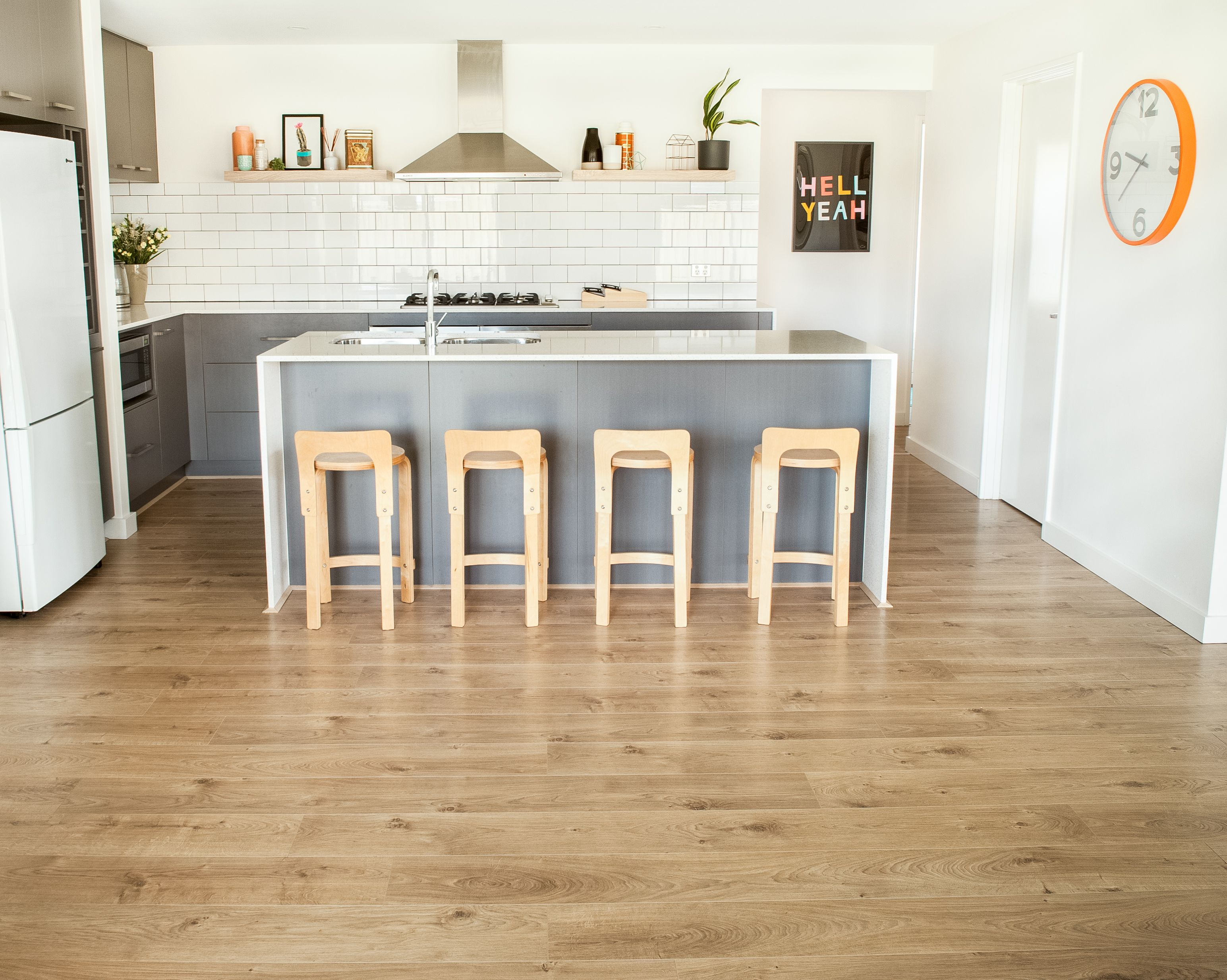 Godfrey Hirst Laminate Flooring Get The Look With Vue Mountain Oak In Parchment Godfreyhirs House Flooring Kitchen Tiles Design Laminate Flooring Bathroom