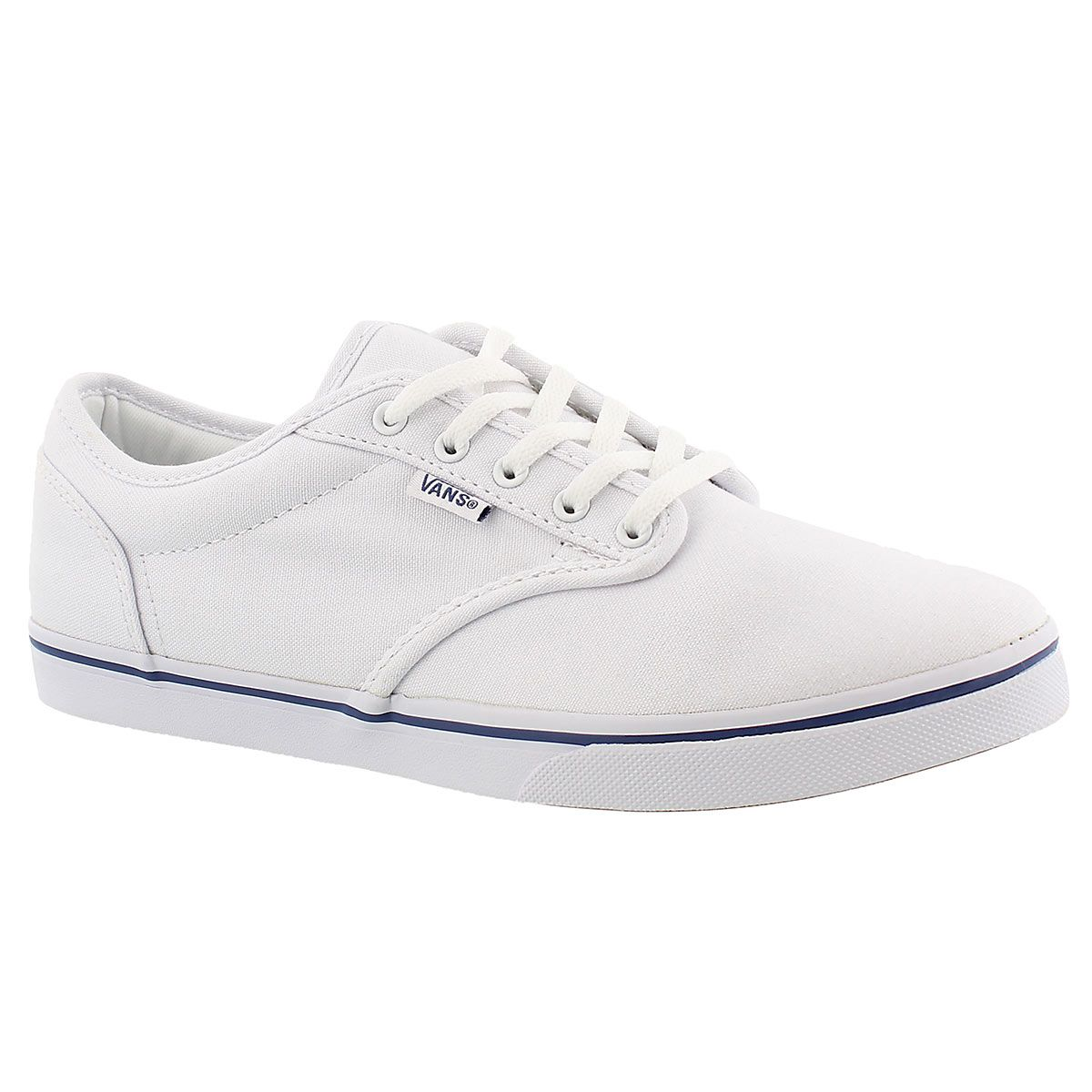 4a60b9b704 Vans Women s ATWOOD LOW white lace up sneakers VN000ZUO1XE