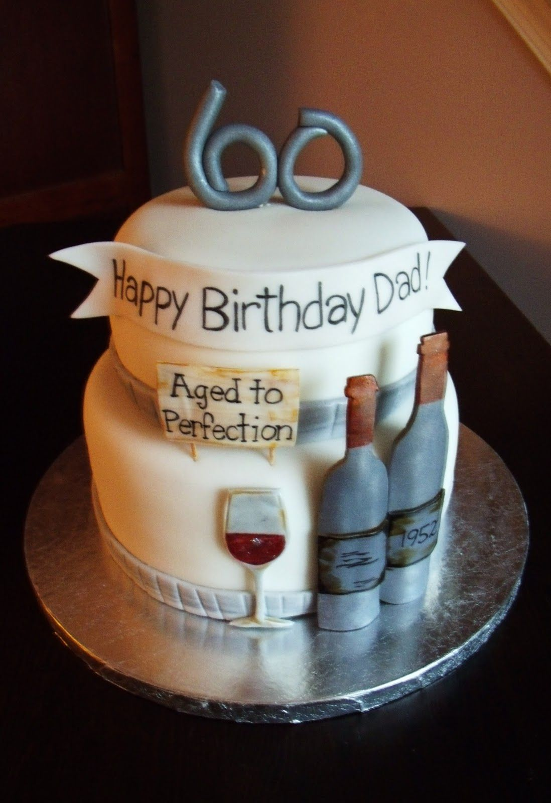 60th {wine} Birthday Cake (With images) Dad birthday