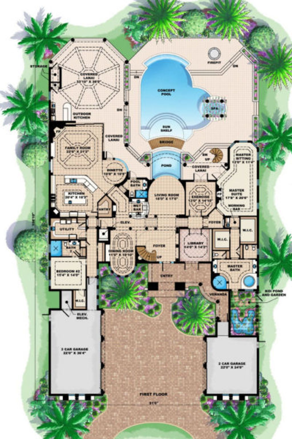 I'd replace the pool with a lawn and the koi pond with a ... on horse stable house plans, snow house plans, pool house plans, marsh house plans, jackson house plans, spa house plans, bank barn house plans, gypsy wagon house plans, pardee house plans, canal front house plans, pond building costs, pond building blueprints, miller house plans, screened porch house plans, house house plans, main house plans, 30x40 barn house plans, park house plans, nature house plans,