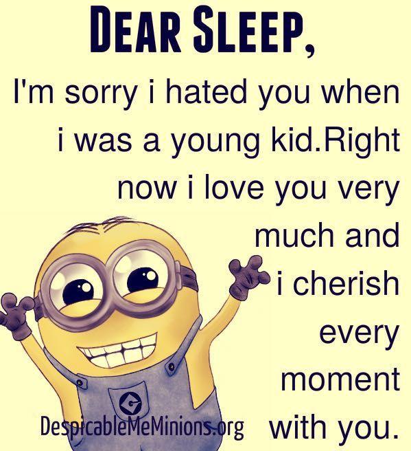 Minion memes and quotes - Dear sleep
