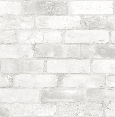 Reclaimed Bricks White Rustic 270122321 wallpaper White
