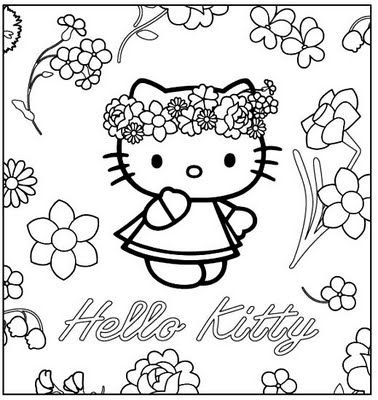 HELLO KITTY COLORING PAGES Embroidery Pinterest Hello kitty - new coloring pages with hello kitty