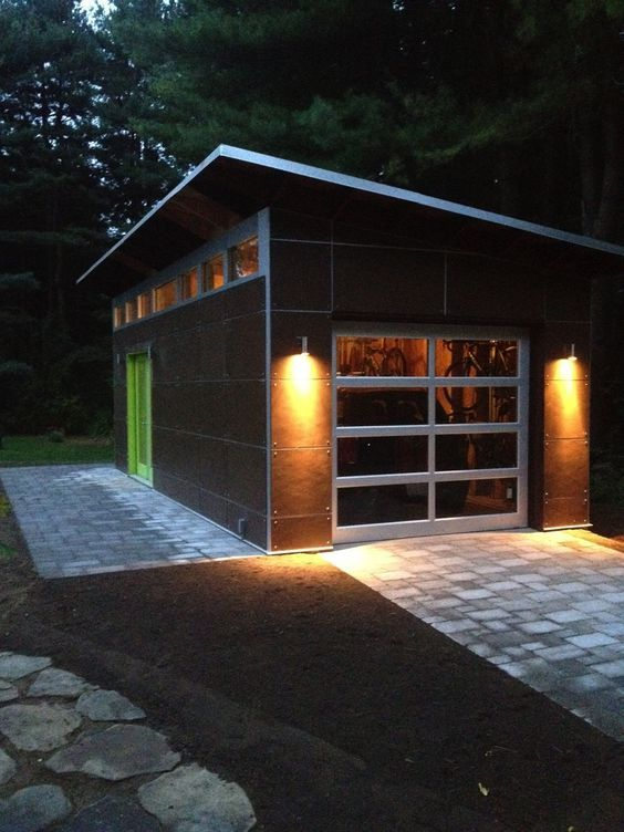 Want A Garage Using Our Modular System We Can Design The Rough Opening For Garage Door Design Garage Design Backyard Garage