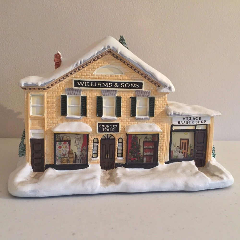 Norman Rockwell Christmas Village Collection Williams and Sons ...