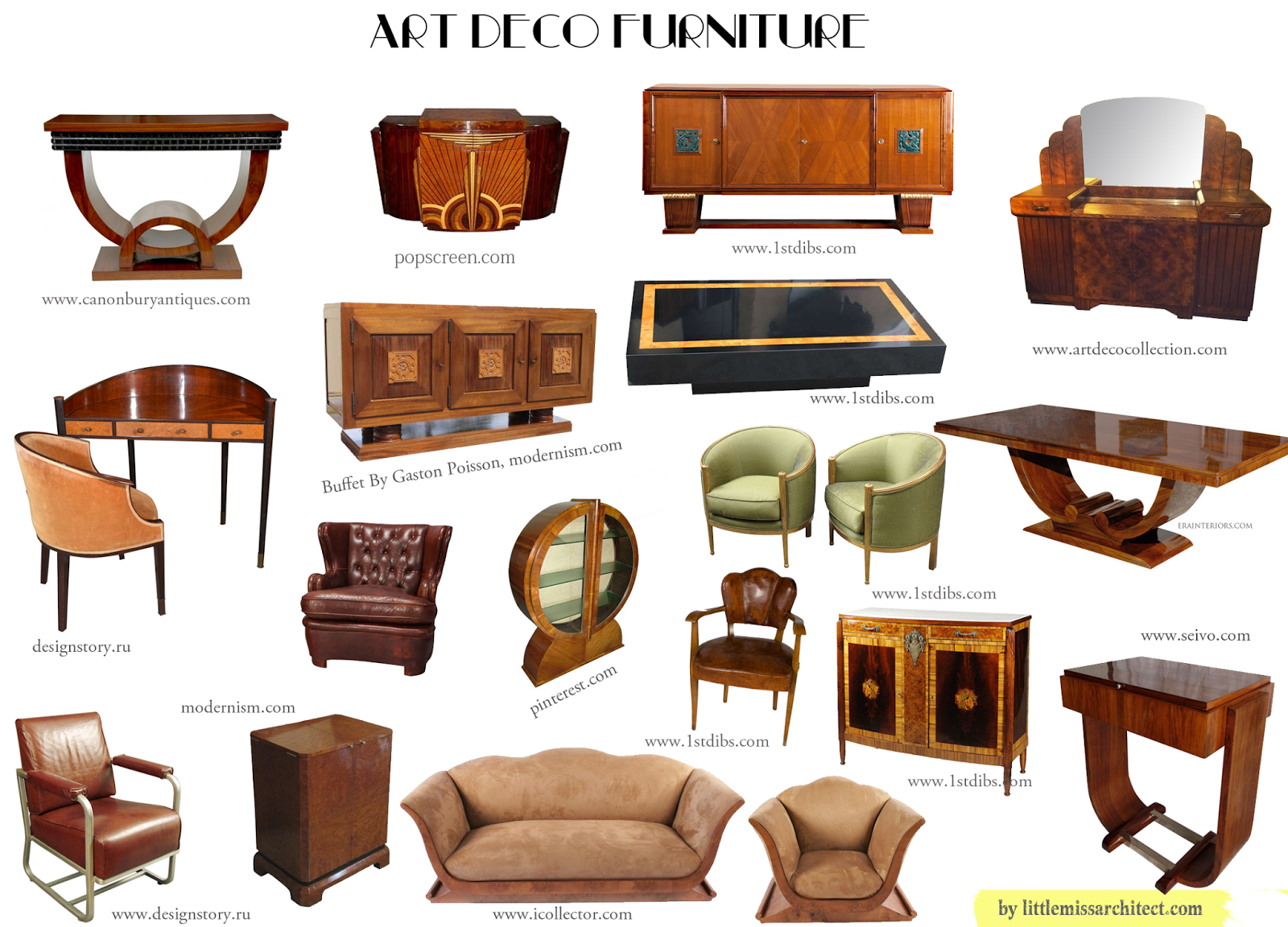 Characteristics Of Art Deco Furniture   Google Search