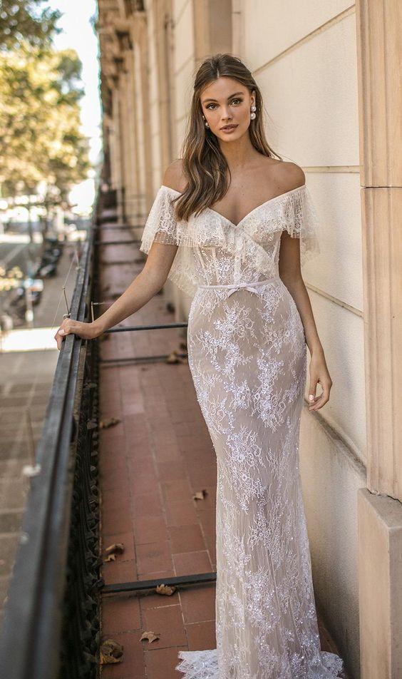 40 Off the Shoulder Wedding Dresses Ideas 21 4