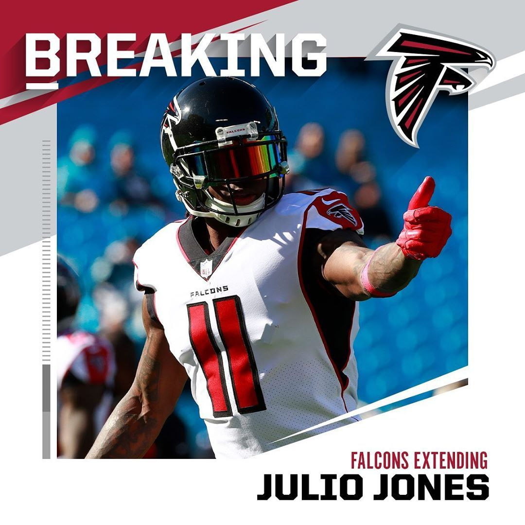 Nfl Atlantafalcons Wr Julio Jones Finalizing Three Year Extension Worth Roughly 6 Julio Jones Nfl Jones