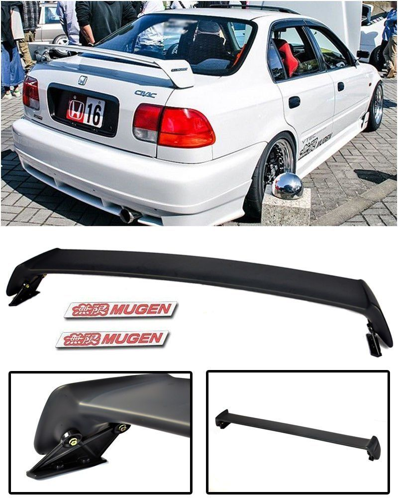 For 96 00 Honda Civic 4dr Sedan Jdm Mugen Style Rear
