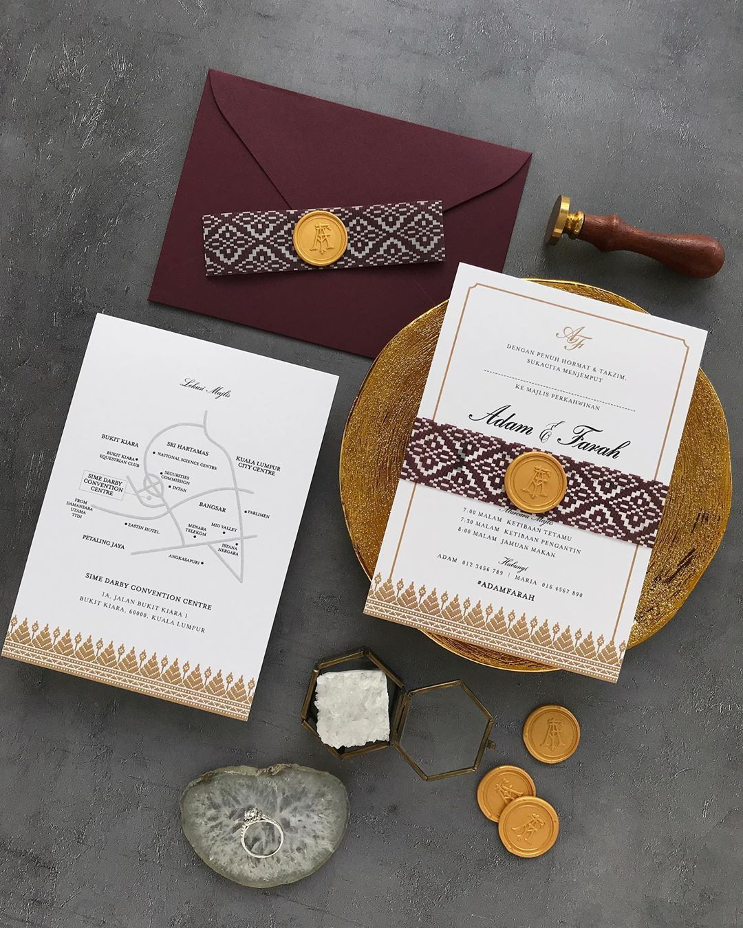 Kad Kahwin Wedding Invitations On Instagram Timeless Songket When Minimalist Meets Traditionalist Kad Kahwin Wedding Invitations Kad Kahwin Design