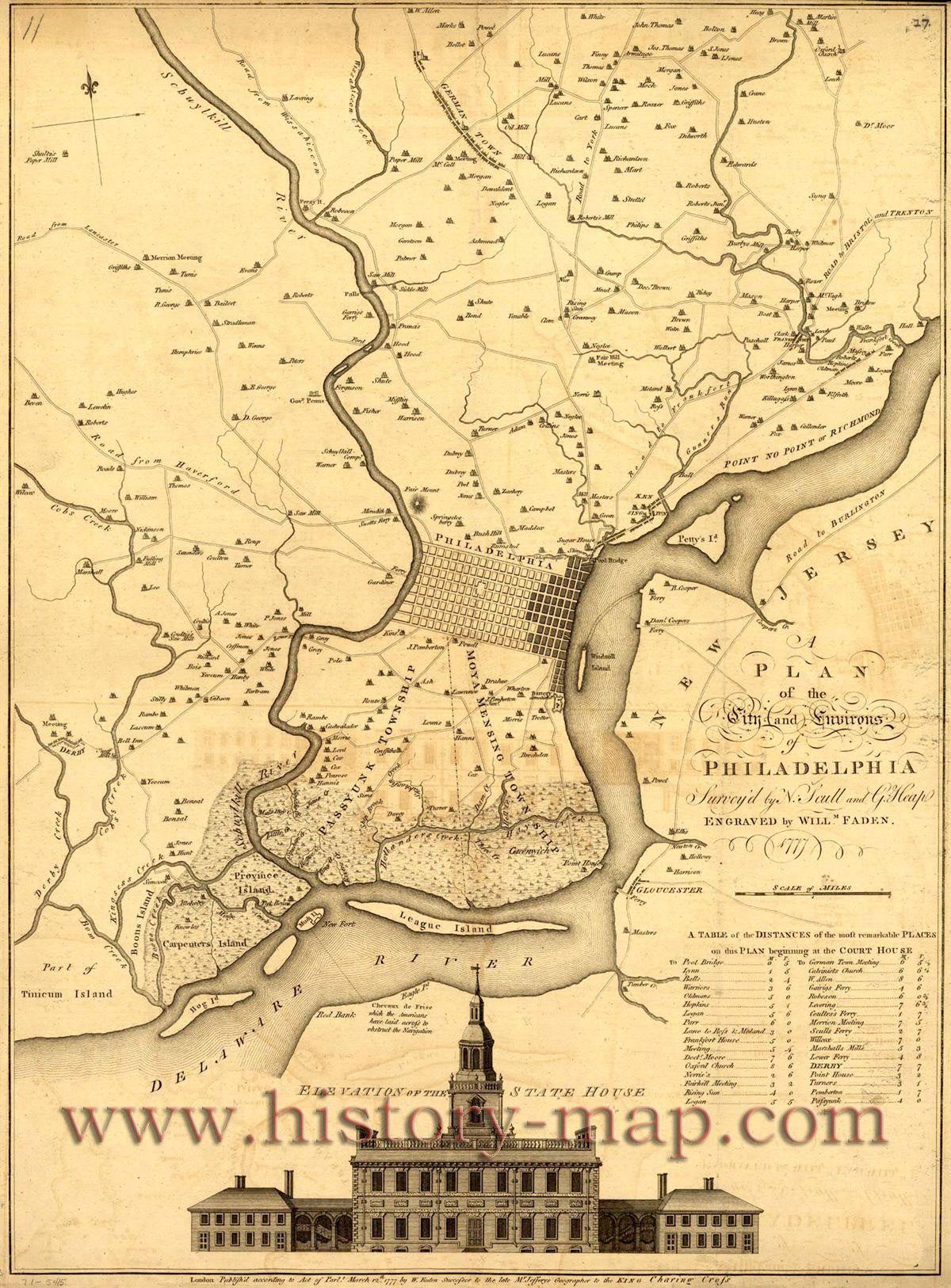 Philadelphia Map Of Us.Revolutionary Philadelphia Map Presents Pinterest