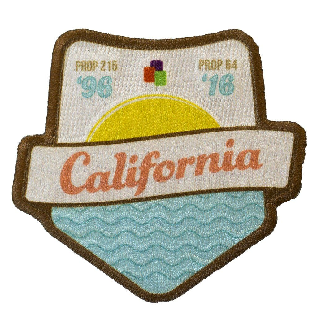 California Legalization Commemoration IronOn Patch
