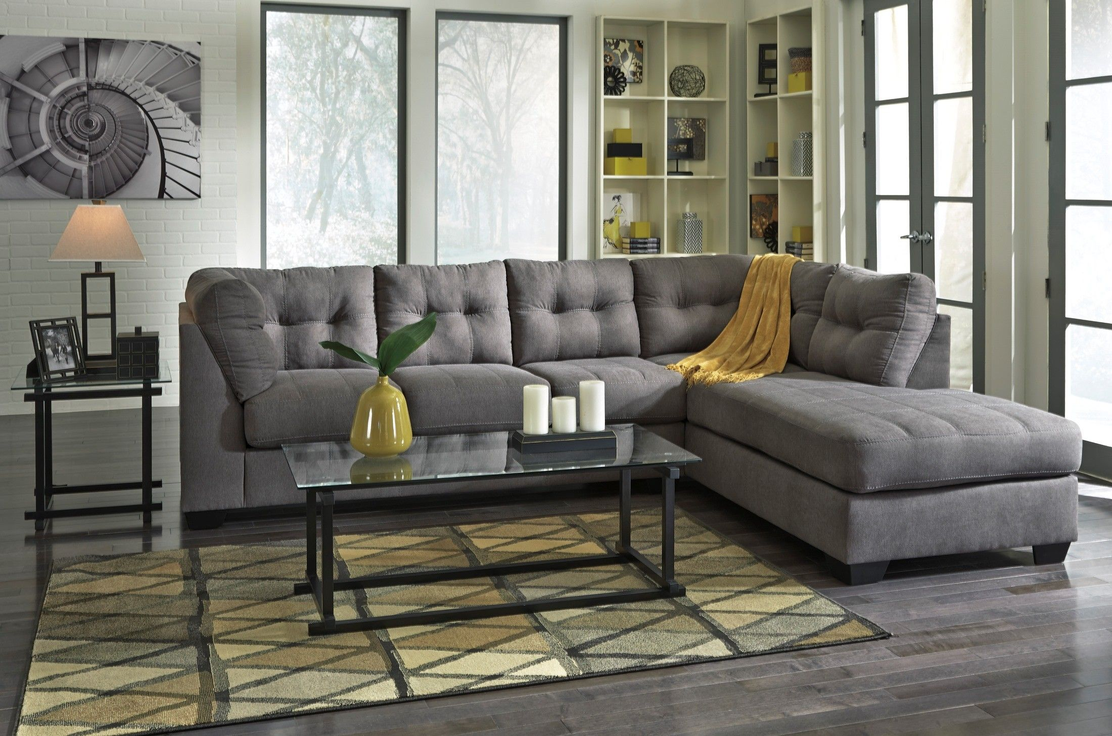 Amazing $728 The Comfortable Contemporary Design Of The Maier Charcoal Upholstery  Collection Features Plush Boxed Seating And