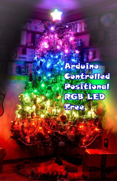 Arduino Controlled Positional RGB LED Christmas Tree - Arduino Controlled Positional RGB LED Christmas Tree Arduino