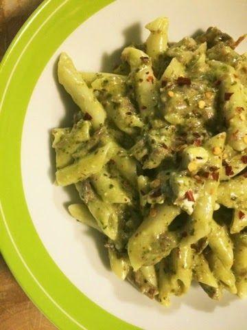 Kris' Kitchen: The Culinary Journey of Koko B.: Beef, feta and pesto penne