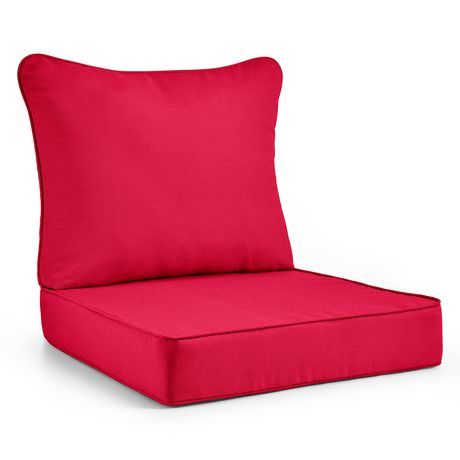 Hometrends Deluxe Deep Seat Cushion Red Deep Seat Cushions Seat Cushions Cushions