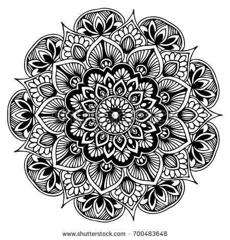 Similar Images, Stock Photos & Vectors of  Indian Henna tattoo pattern or background - Mehndi design - 284512841