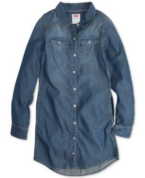 7e5a4bb07 Levi's Western-Style Shirtdress, Big Girls (7-16) - Blue S | Products