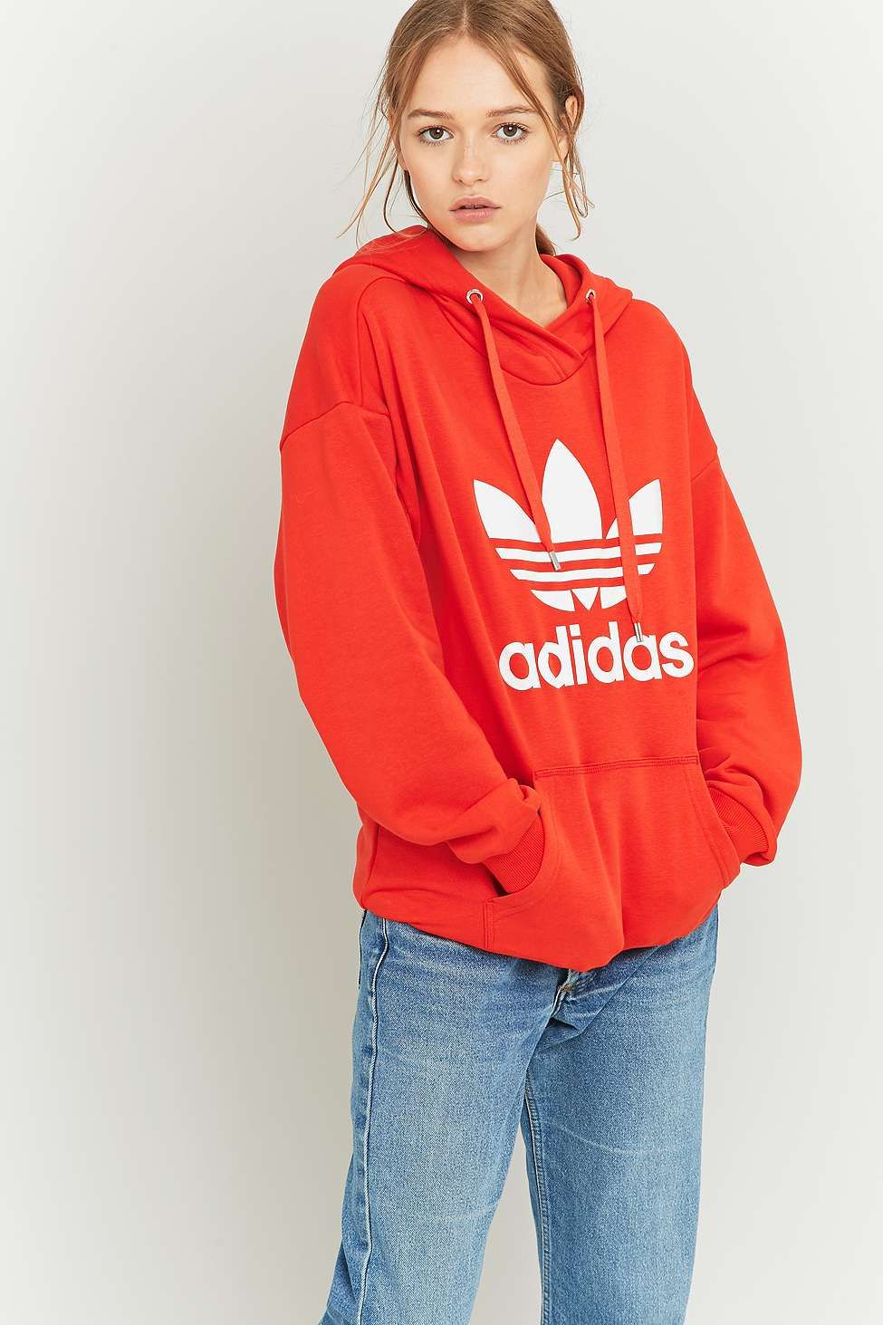 adidas Originals - Sweat à capuche rouge motif trèfle in 2018 ... 3976da02b9c