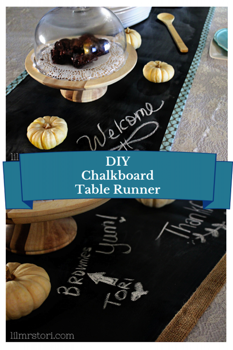 Craft A Cool Chalkboard Table Runner For All Your Holiday Celebrations This Year