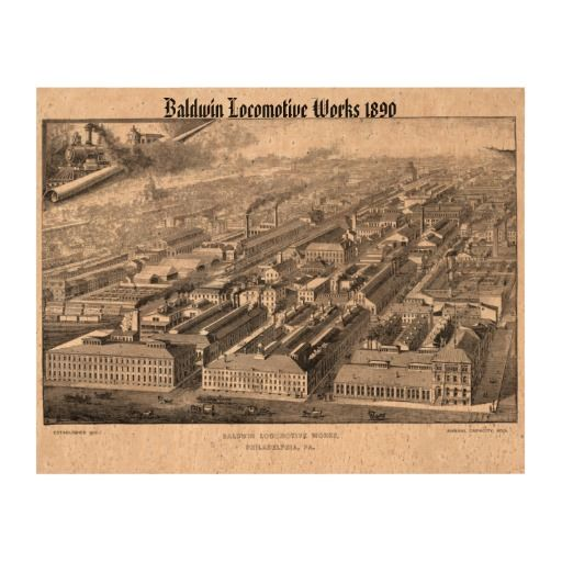 The Vintage Wedding At Cork Factory: Baldwin Locomotive Works Factory 1890 Cork Paper Prints