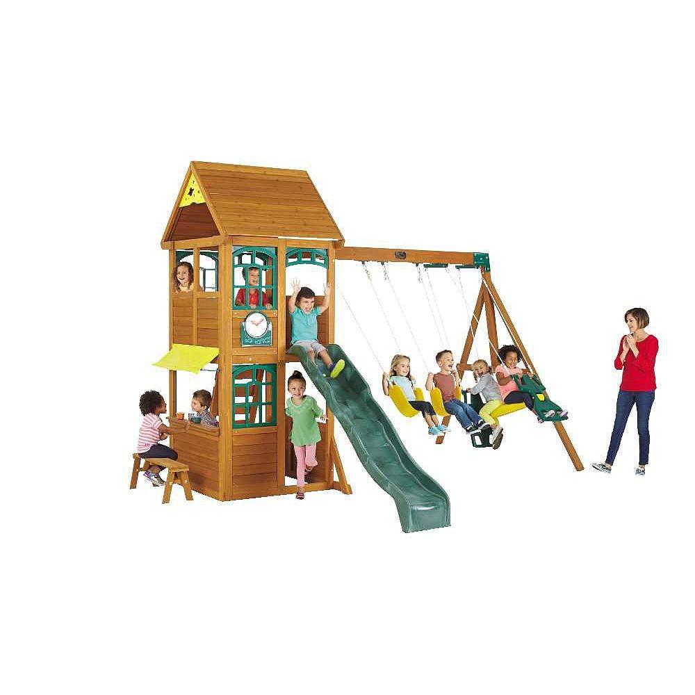brooksville premium collection wood swing set features upper