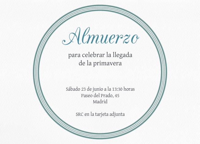 Tarjetas E Invitaciones Para Almuerzo Invitaenunclic