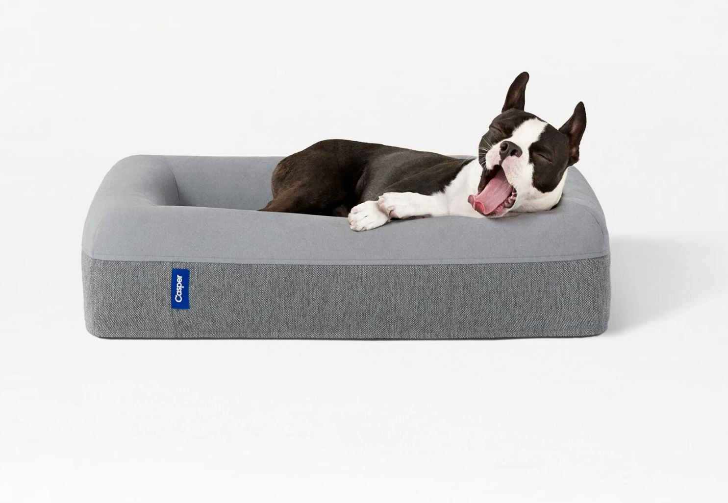 The Casper Dog Mattress is shaped much like a dog bed with