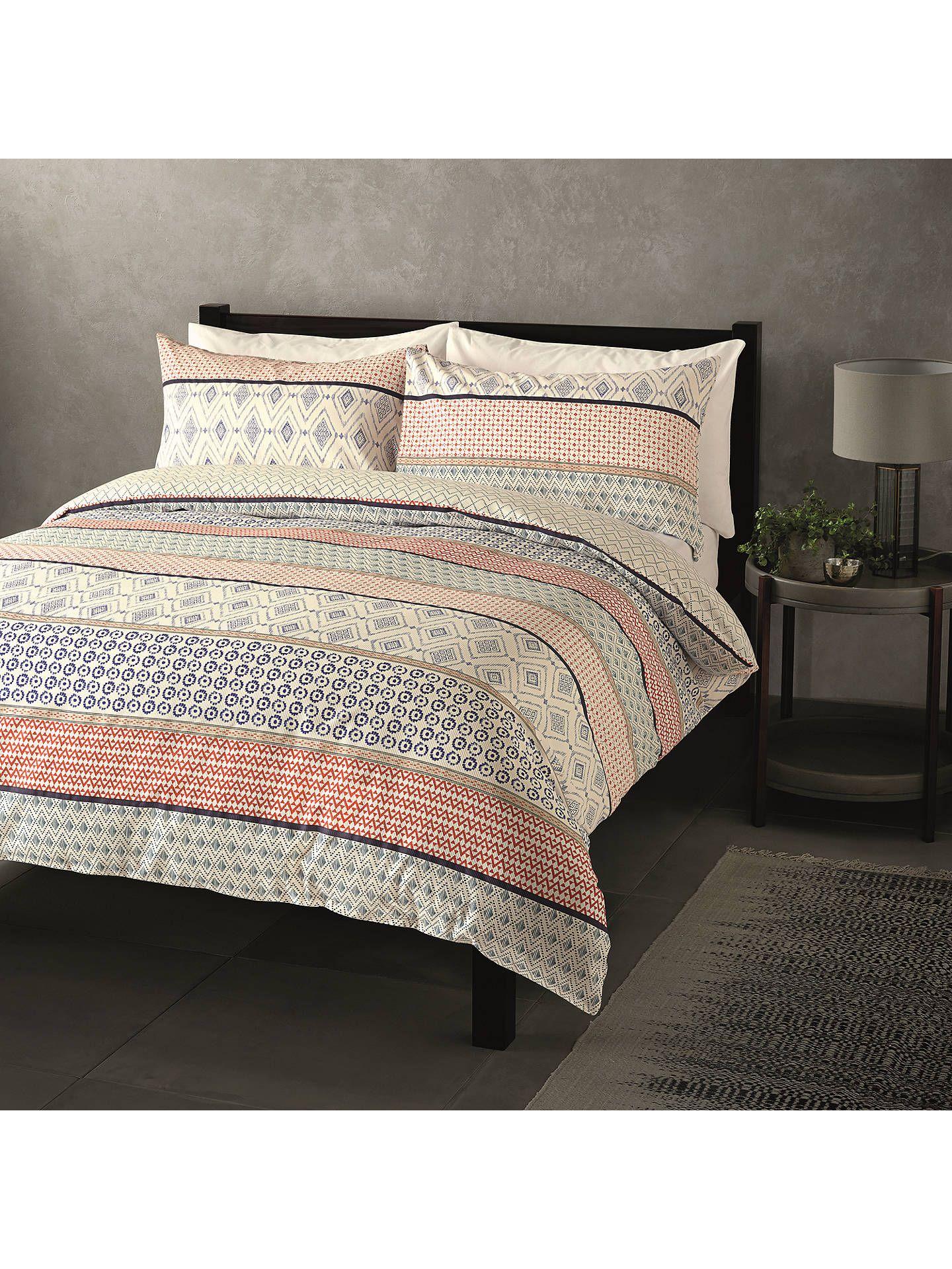 John Lewis Partners Nisha Stripe Duvet Cover Set Multi Duvet