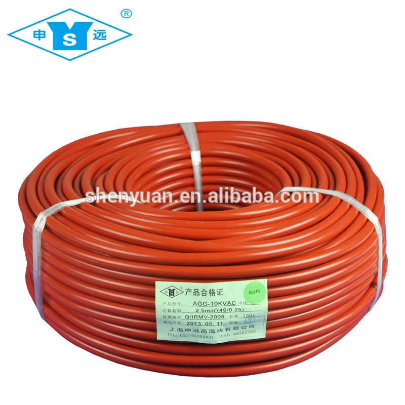 high voltage High Temperature Silicone rubber Insulated Lead Wire ...